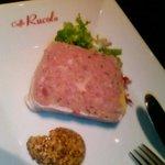 3379965 - 豚肉のパテ…これはレ・ヴォルテのサンジョベーゼの風味に合わせて注文しました。