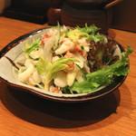 とんかつ割烹 かつぜん - 蟹とセロリのレモン和え (2014/12)