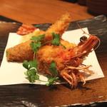とんかつ割烹 かつぜん - 天然車海老のフライ (2014/12)