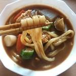 めんいち - 料理写真:めんいちの麺とらくbカレーうどんスープのコラボ(^o^)