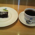 33813465 - フォンダンショコラ 本日のコーヒー(マンダリン)