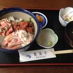亀島亭 - セイコ2杯分の贅沢どんぶりです。