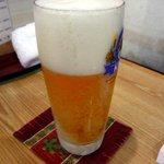 鮨・あつ賀 - 泡の多いビール