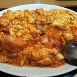 魯園菜館 - 芝海老と玉子チリソース炒め( '13.08)