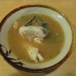 穴場 - あら汁(大盛)297円(税込)
