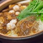 一鳳 - 名古屋コーチンの味噌鍋【2014年10月】