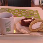 節知 - H26/10節知ロールとホットコーヒー