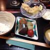 無似舎 - 料理写真:ご飯、味噌汁、鱧南蛮、秋刀魚とお野菜の炊き合わせ