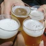 札幌かに本家 - ビールで乾杯!