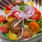 豚肉創作料理 やまと  - いろいろなトマトのサラダ【2014年11月】