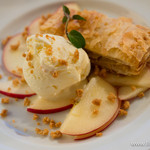 chano-ma - なると金時芋のパイ バニラアイスとりんご添え ほのかに香る胡麻ソースと共に【2014年11月】