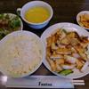 胡同 - 料理写真:文甲イカのかき油炒め(本日の定食)主要部分