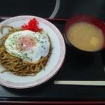 堀添食堂 - 那珂湊焼きそば¥400 あら汁サービス