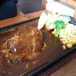 いちゃりば - 石垣牛とあぐー豚の贅沢ハンバーグセット(1180円)
