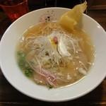 さくら咲く - 桜花塩らぁめん(全粒粉入り麺)