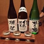 そば居酒屋るちん - 日本酒利き酒三種♪