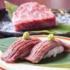 潮家 - 料理写真:口の中でとろける最高級和牛の味わい『広島牛にぎり寿司』