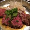 プコチーニ - 料理写真:レアステーキ たたき