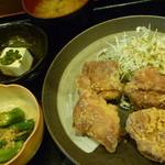 りあん - 若鶏の唐揚定食 税込800円