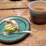タルトレット - 抹茶とホワイトチョコレートのタルト