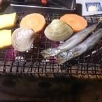 漁屋 - 漁師飯豪快カニ荒汁御膳の漁師焼き