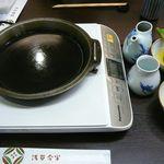 浅草今半 - IHヒーターと鉄鍋@2014/12