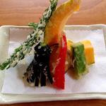 秋保草庵 - 野菜の天ぷら