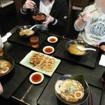 坊屋 - 黒坊&餃子&ソースかつ丼S&チャーシュー丼S