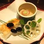 京懐石 美濃吉 - 前菜: 季節の彩り五種