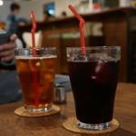 カフェ・ロカ - 紅茶(Ice)とぶどうジュース(赤)
