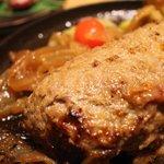 ハンバーグファクトリー - 料理写真:黒毛和牛石釜ハンバーグ
