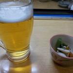 ヤン衆漁場居酒屋カネイワ昌栄丸 - ビール お通し
