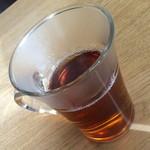 ポルコ・ロッソ - お冷でなくお茶が提供されます。2015年1月