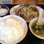 海月 - レバニラ定食  480円