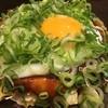 鶴橋風月 - 料理写真:牛筋ねぎ月見玉(完成)