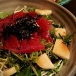 魚や大将 - まぐろと山芋のサラダ*