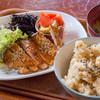 クロモンカフェ - 料理写真:となりの八百屋さん定食 豚ロースの味噌漬け焼とお惣菜【2015年1月】