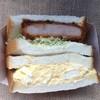 ローソン - 料理写真:ずっしりハムカツ&ごろっとタマゴサンド