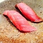 鮨 みながわ - 中とろと鰤の藁焼き(コースメニュー)
