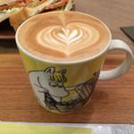 ザ・コーヒーバー - カフェラテはムーミンマグとラテアートでかわいい♡