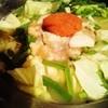 たら福 - 料理写真:コースのお鍋(みそ仕立てのもつ鍋)