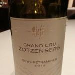 レストラン ラ フィネス - 鴨には糖度のある・・2012 Zotzenberg Gewyrztraminer        Lucus et Andre Riefel Vignerous