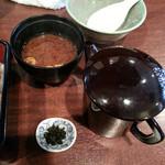 たちじゅう園 - ひつまぶし風にする出汁と味噌汁