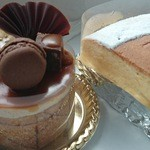 トゥレ・ドゥー - ショコラバナーヌ(左)と発酵チーズケーキ(右)