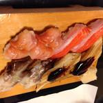 金寿司 - 赤貝、サーモン、鳥貝、穴子