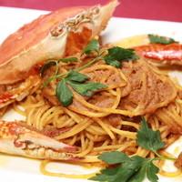 渡り蟹のスパゲッティ