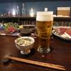 あぐり - 料理写真:お通し(白和え)、ビール
