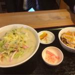 徳丸レストラン - 同僚の頼んだミニチャンポンとミニカツ丼のセット1,180円(^^)