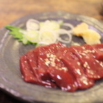 宮川橋もつ肉店 - 皿焼きレバー