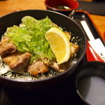 比内や - ネギ塩カルビ丼(1000円)